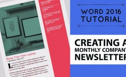007 Fantastic Word 2007 Newsletter Template Free Example