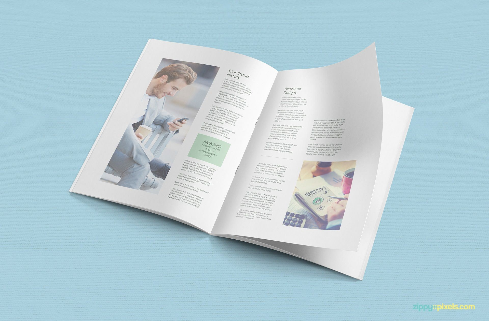007 Fascinating A4 Brochure Template Psd Free Download High Resolution  Tri Fold Bifold1920