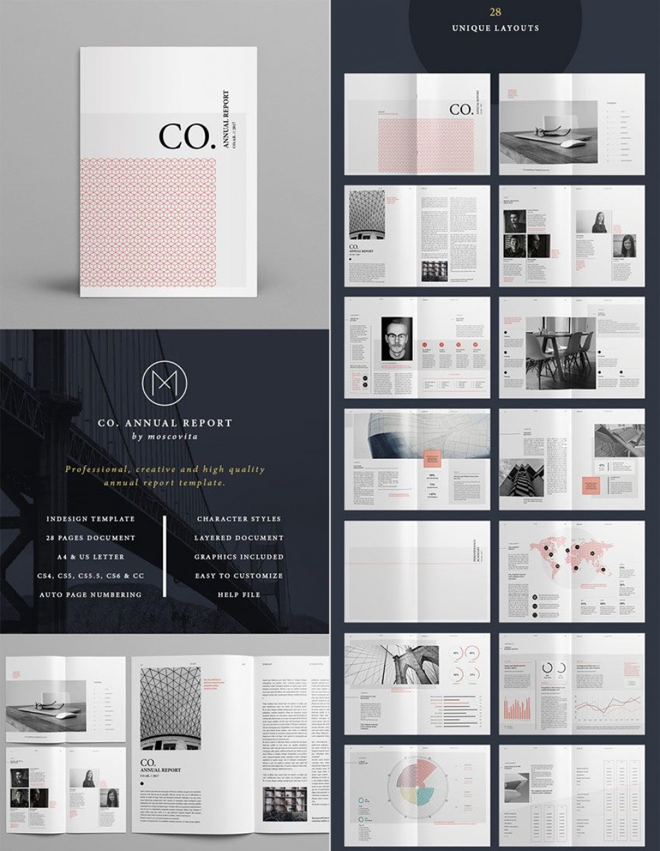 007 Fascinating Annual Report Design Template Indesign Highest Clarity  Free Download960