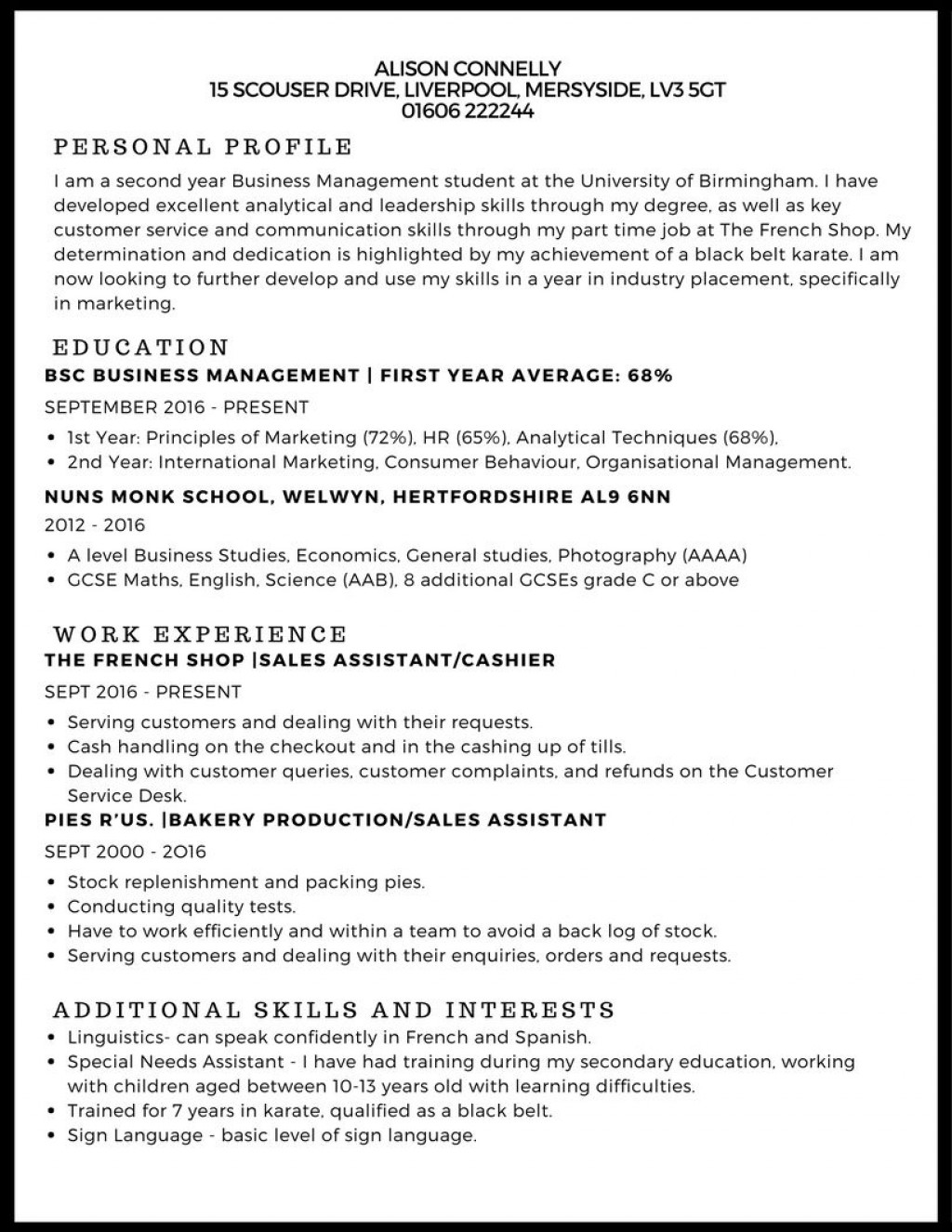 007 Fascinating Curriculum Vitae Template Student Photo  Sample College Undergraduate Example For Research PaperLarge