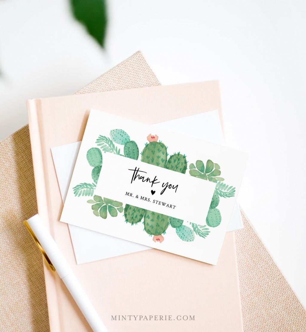 007 Fascinating Diy Wedding Thank You Card Template Concept  TemplatesLarge