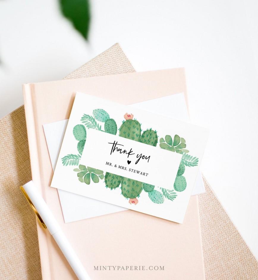 007 Fascinating Diy Wedding Thank You Card Template Concept  Templates