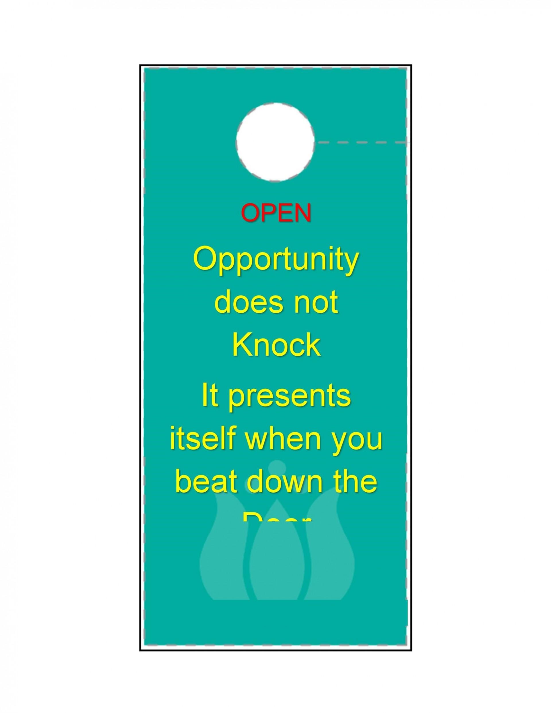 007 Fascinating Door Hanger Template For Word Design  Download Free Wedding Microsoft1920