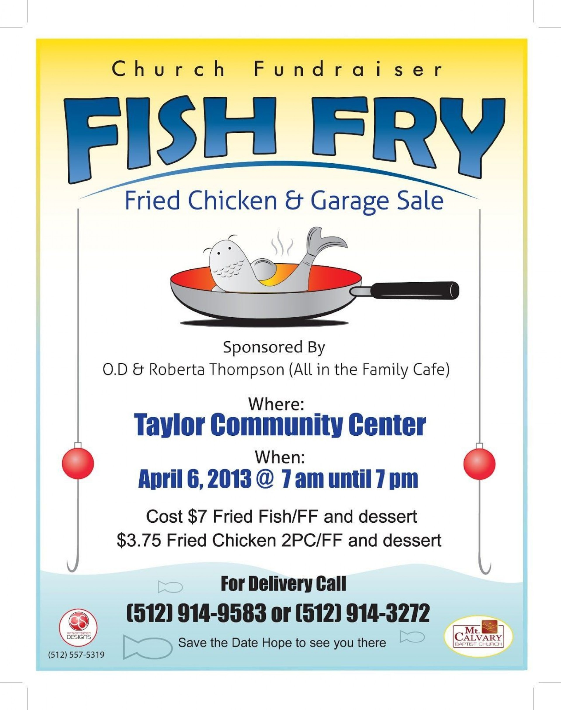 007 Fascinating Fish Fry Flyer Template Design  Printable Free Powerpoint Psd1920