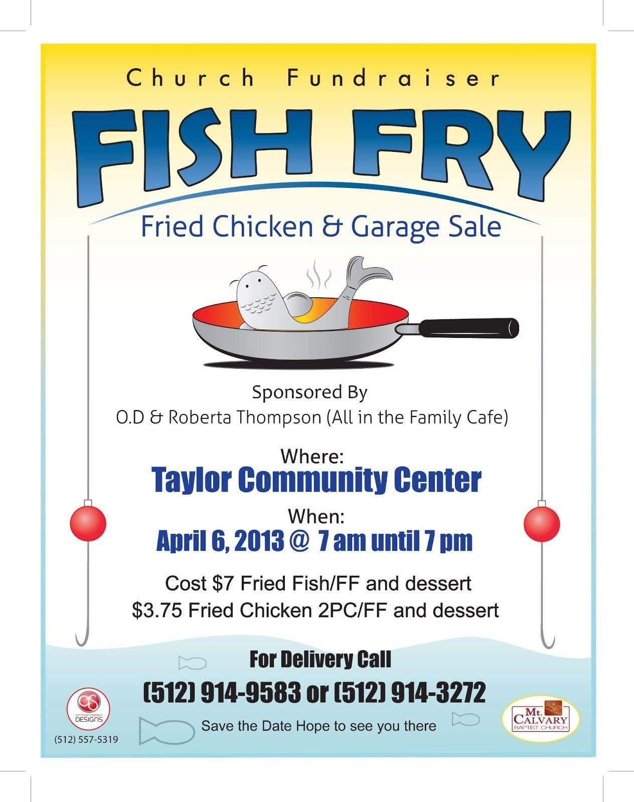 007 Fascinating Fish Fry Flyer Template Design  Printable Free Powerpoint PsdFull