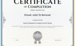 007 Fascinating Free Certificate Of Completion Template Image  Blank Printable Download Word Pdf