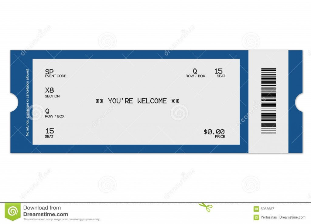 007 Fascinating Free Concert Ticket Printable Photo  Template For GiftLarge