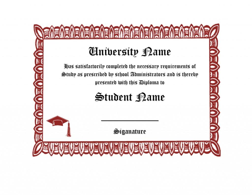 007 Fascinating Free High School Diploma Template Sample  Templates Print Out Editable PrintableLarge