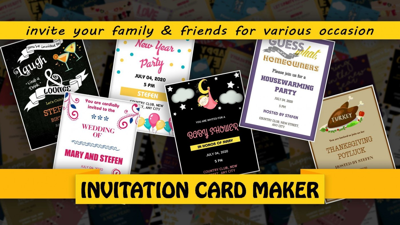 007 Fascinating Free Online Birthday Invitation Card Maker With Photo Sample  1st1400