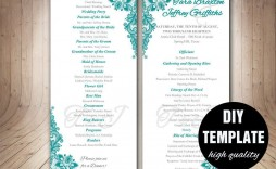 007 Fascinating Free Word Template For Wedding Program High Def  Programs
