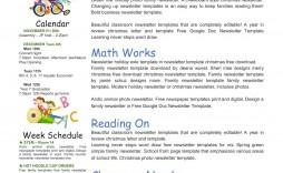 007 Fascinating Google Newsletter Template For Teacher Picture  Teachers Free