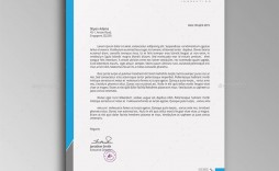 007 Fascinating Letterhead Template Free Download Psd Example  A4 Company