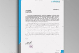 007 Fascinating Letterhead Template Free Download Psd Example  Corporate A4