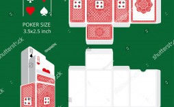 007 Fascinating Playing Card Size Template High Definition  Game Standard
