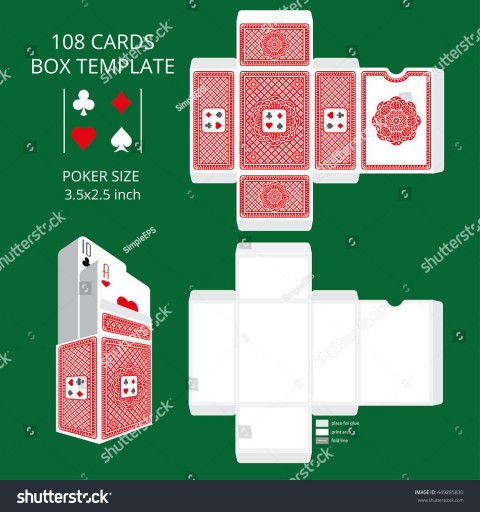 007 Fascinating Playing Card Size Template High Definition  Standard Poker480