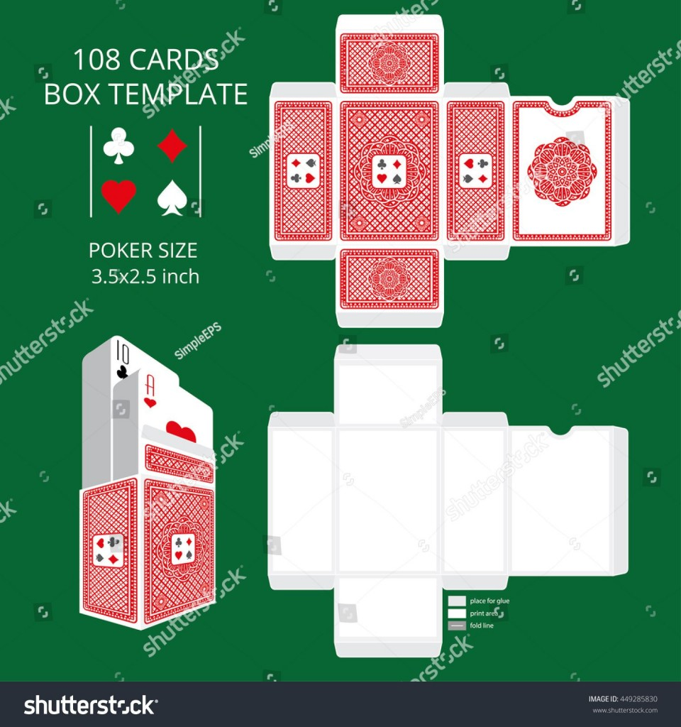007 Fascinating Playing Card Size Template High Definition  Standard Poker960