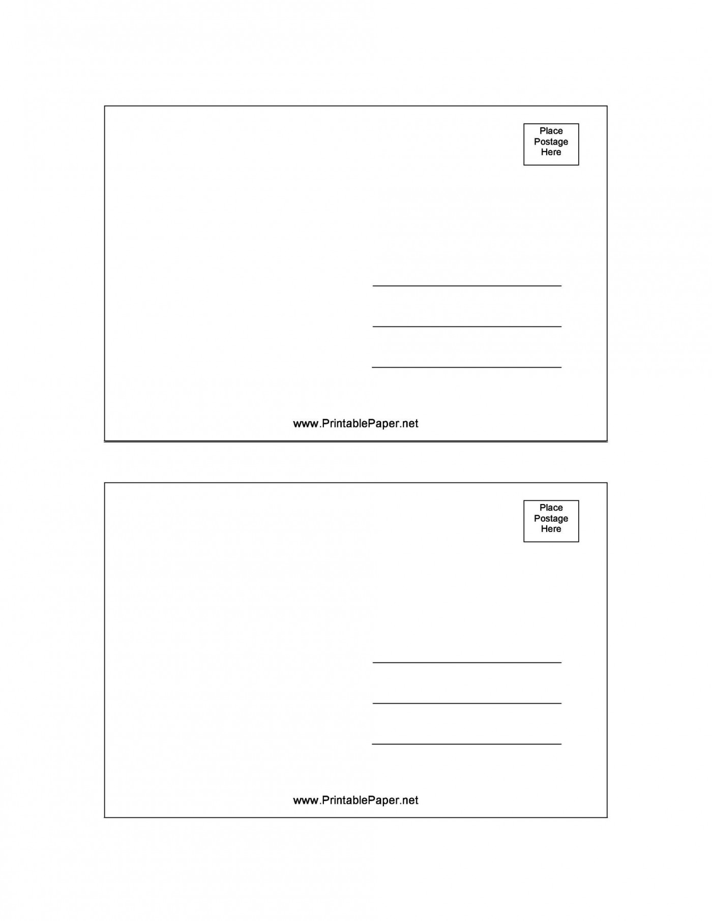 007 Fascinating Postcard Layout For Microsoft Word Picture  Busines Template1400