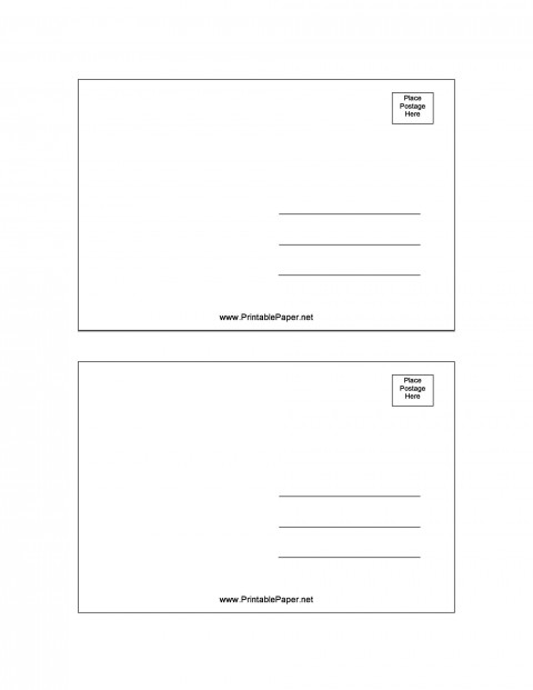007 Fascinating Postcard Layout For Microsoft Word Picture  Busines Template480