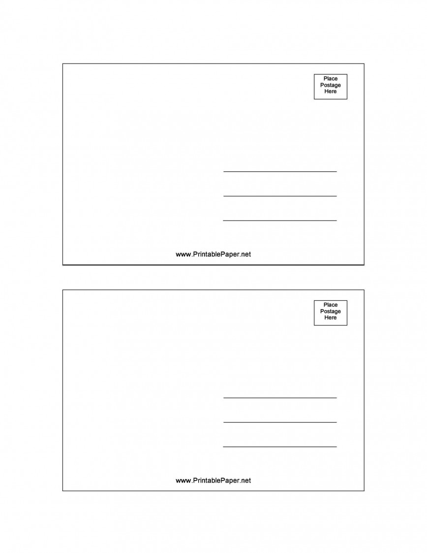007 Fascinating Postcard Layout For Microsoft Word Picture  Busines Template868