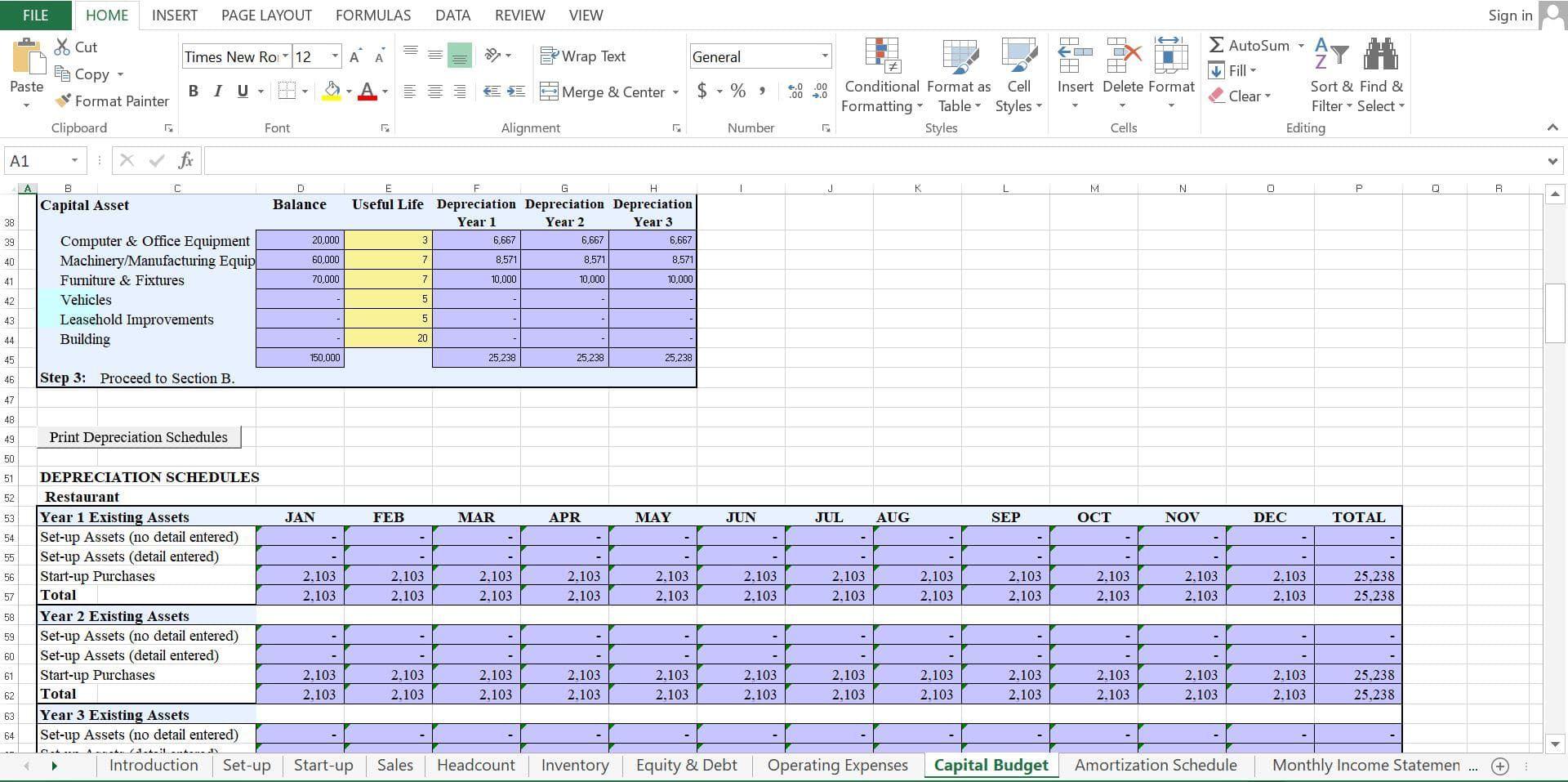 007 Fascinating Restaurant Busines Plan Template Excel Design  FreeFull