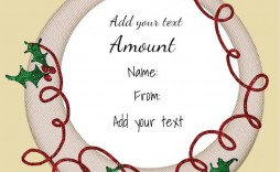 007 Fascinating Template For Christma Gift Certificate Free Idea  Download Microsoft Word Uk