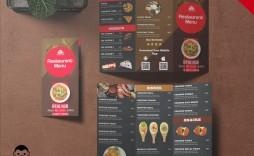 007 Fascinating Tri Fold Menu Template Idea  Templates Restaurant Tri-fold Food Free Psd