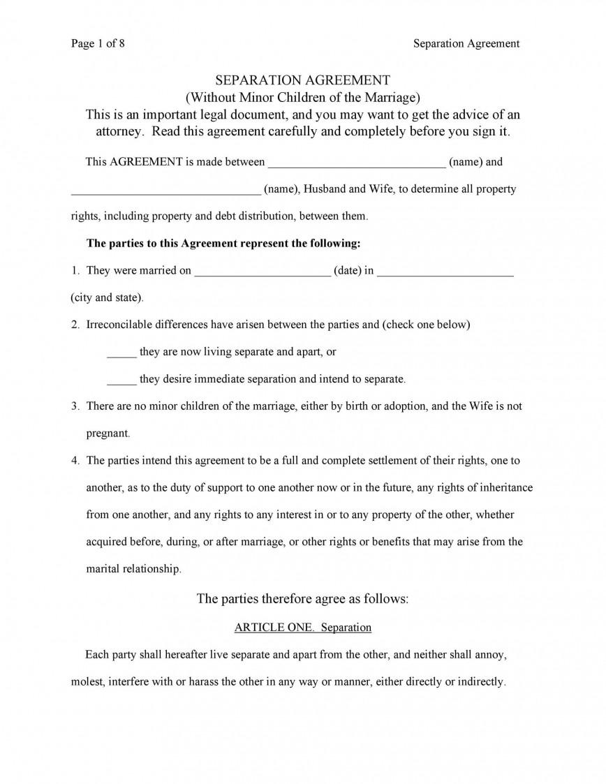 007 Fascinating Virginia Separation Agreement Template Highest Clarity  Free Marital
