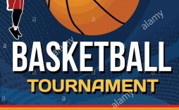 007 Fearsome Basketball Tournament Flyer Template Design  Word Free