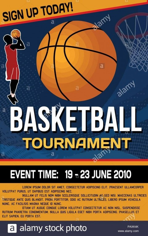 007 Fearsome Basketball Tournament Flyer Template Design  3 On Free480