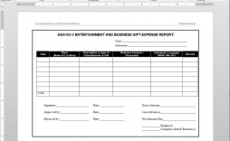 007 Fearsome Busines Expense Report Template Design  Small Example