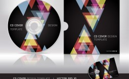 007 Fearsome Cd Cover Design Template Inspiration  Free Vector Illustration Word Psd Download