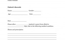 007 Fearsome Doctor Note Template Pdf Idea  Free Sample For Work
