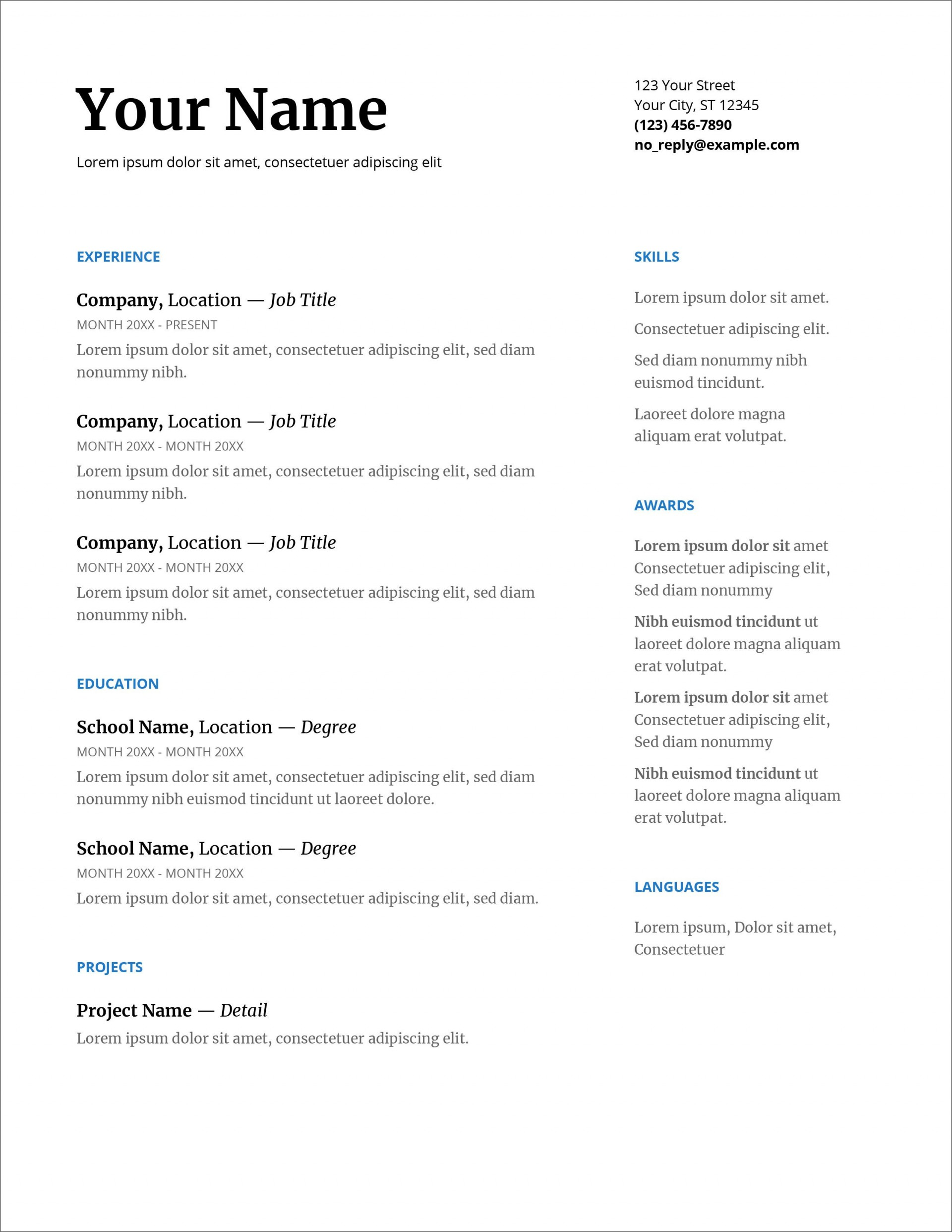 007 Fearsome Download Resume Template Word 2007 High Resolution 1920