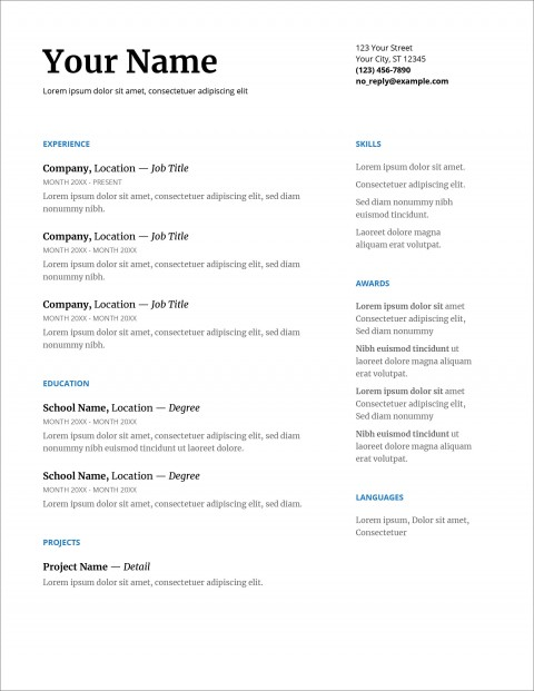 007 Fearsome Download Resume Template Word 2007 High Resolution 480