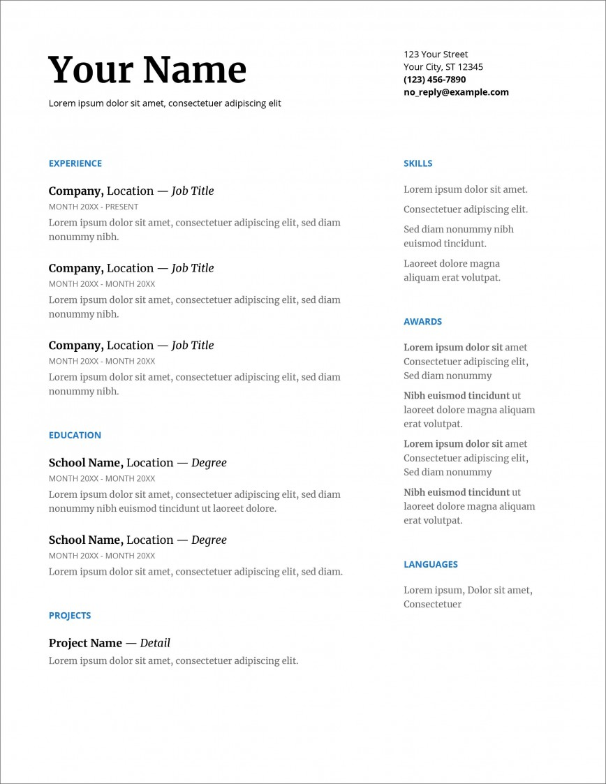 007 Fearsome Download Resume Template Word 2007 High Resolution 868