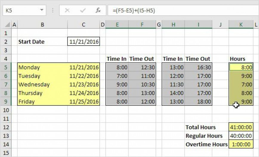 007 Fearsome Excel Timesheet Template With Formula Inspiration  Formulas Free Uk Monthly