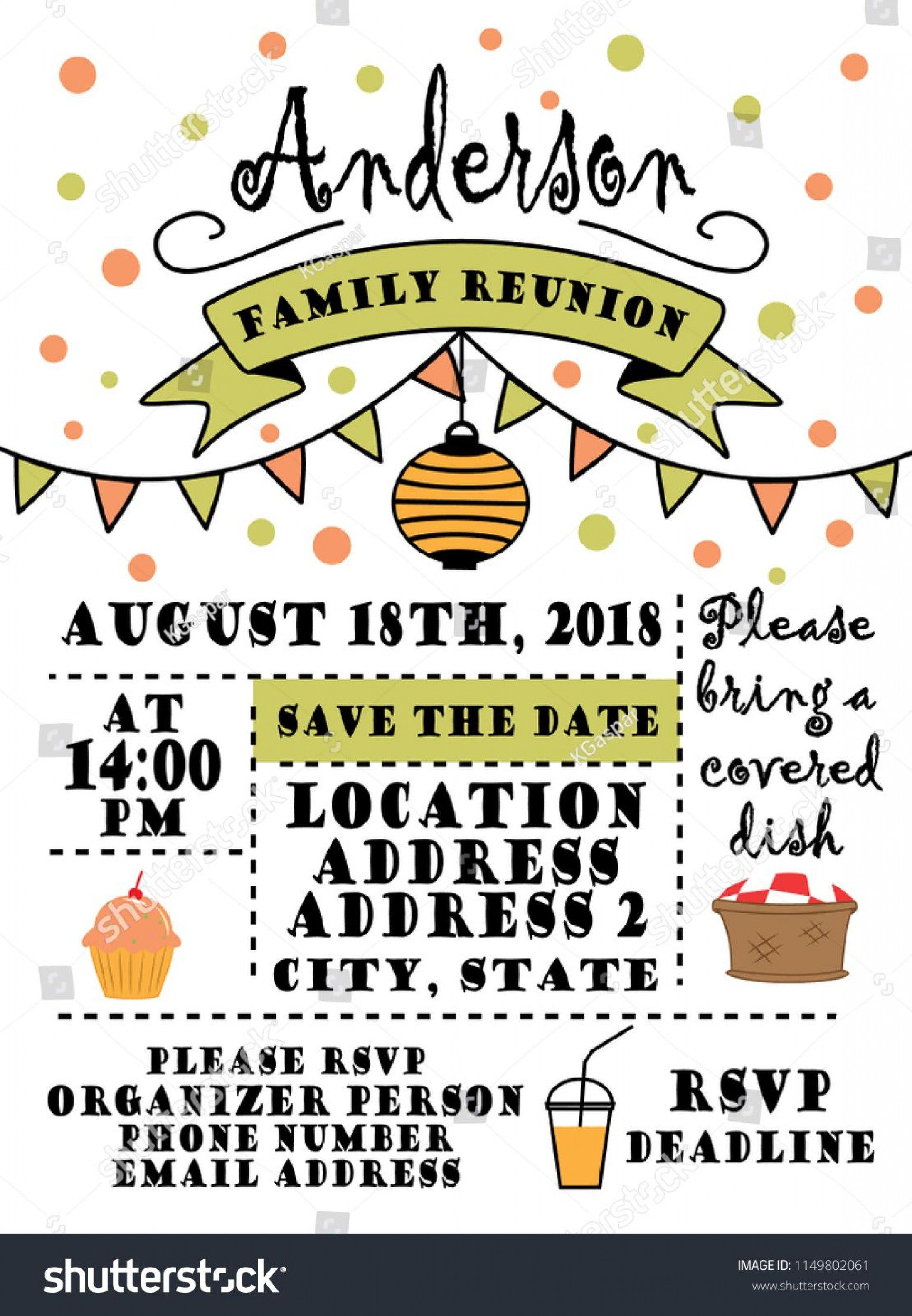 007 Fearsome Free Family Reunion Flyer Template Word High Definition Full