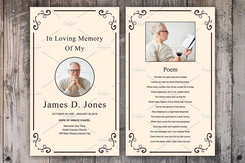 007 Fearsome Funeral Prayer Card Template Design  Templates For Word FreeLarge
