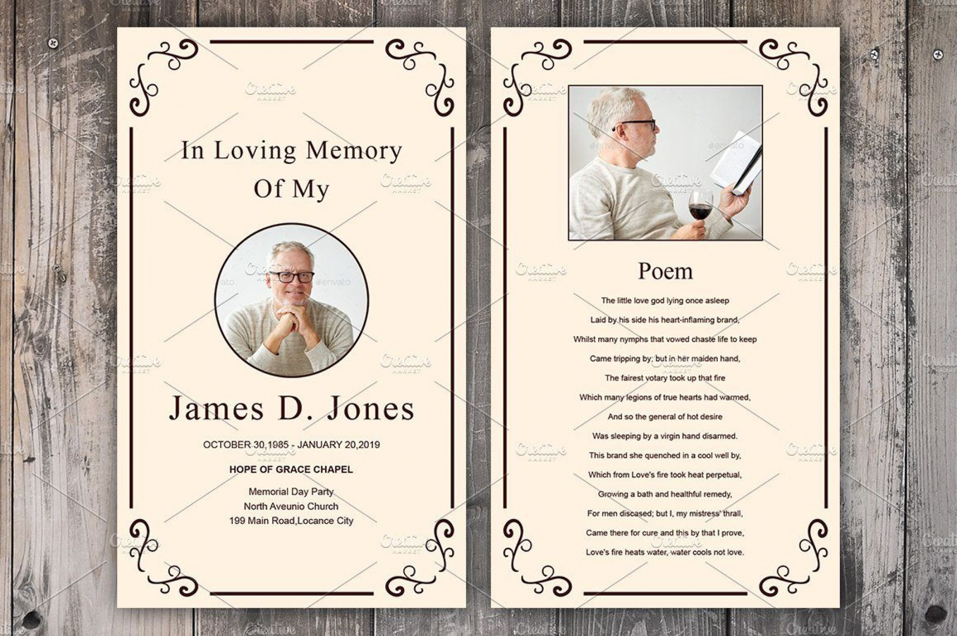 007 Fearsome Funeral Prayer Card Template Design  Templates For Word Free1920