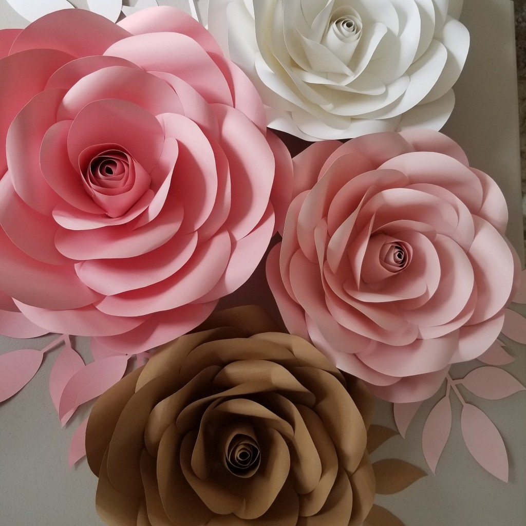 007 Fearsome Paper Rose Template Pdf Concept  Flower Giant Free CrepeLarge