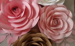 007 Fearsome Paper Rose Template Pdf Concept  Flower Giant Free Crepe