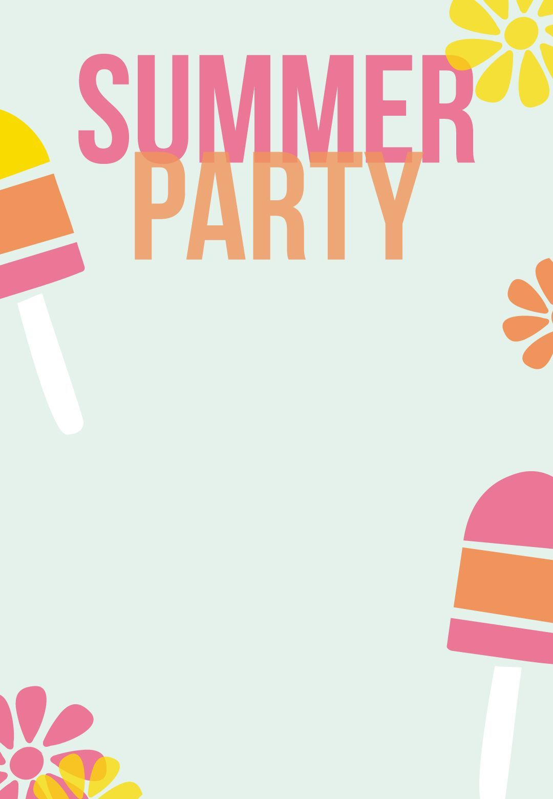 007 Fearsome Pool Party Invitation Template Free Idea  Downloadable Printable SwimmingFull