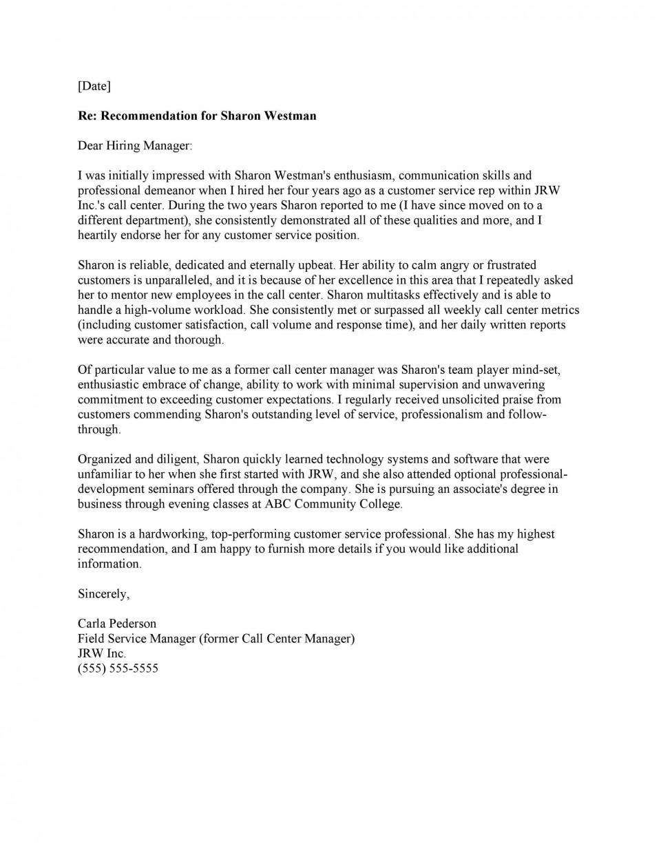 007 Fearsome Professional Reference Letter Template Inspiration  Nursing Free Character960