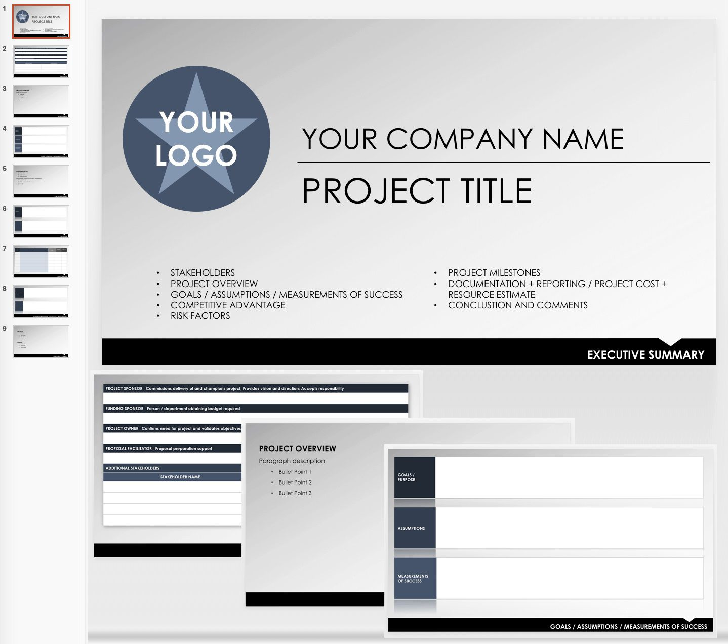 007 Fearsome Project Executive Summary Template Sample  Example Ppt Proposal DocFull
