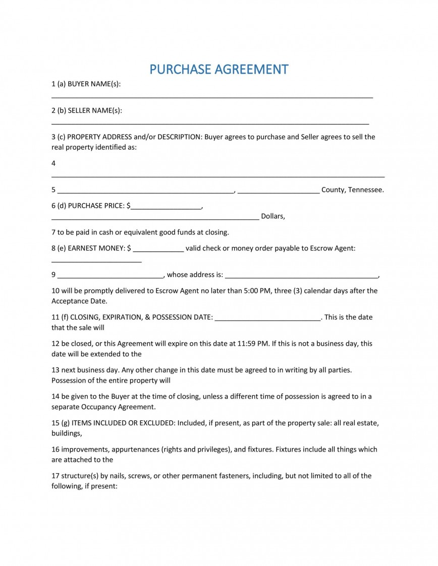 007 Fearsome Property Purchase Agreement Template Free Highest Quality  Mobile Home868