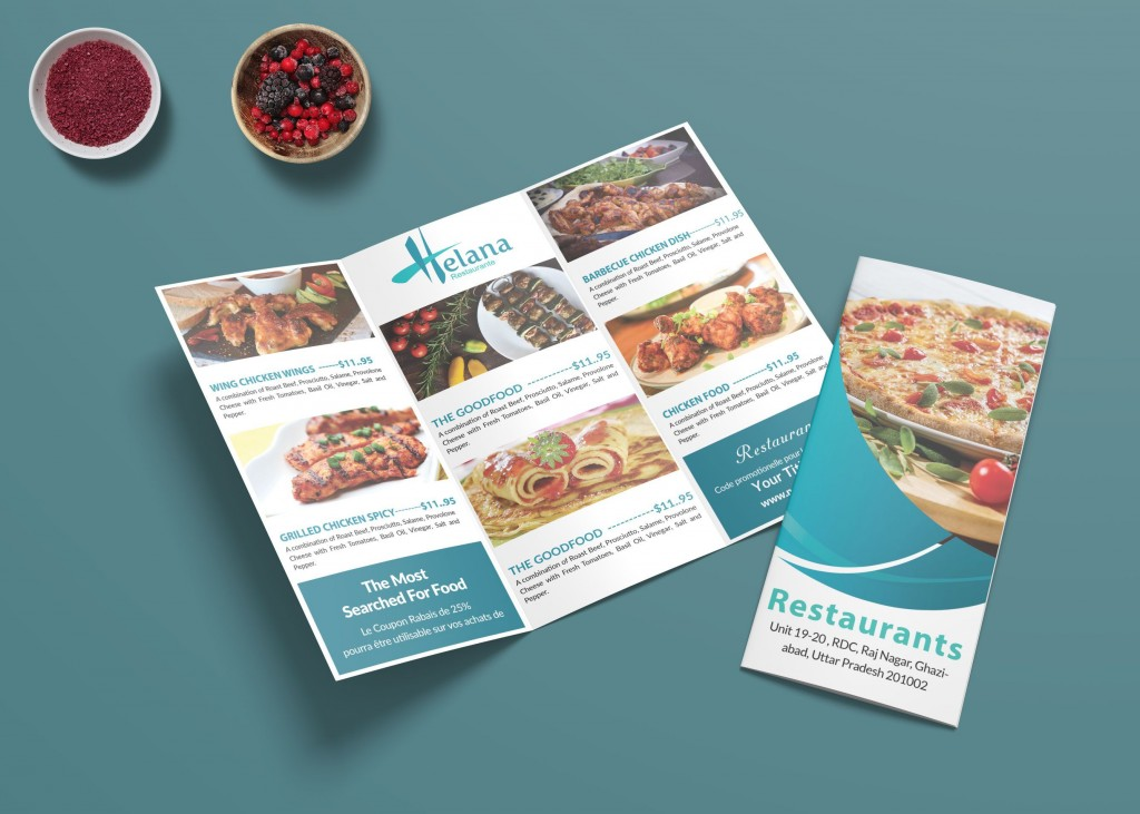 007 Fearsome Take Out Menu Template Image  Tri Fold Free Word Restaurant AwayLarge