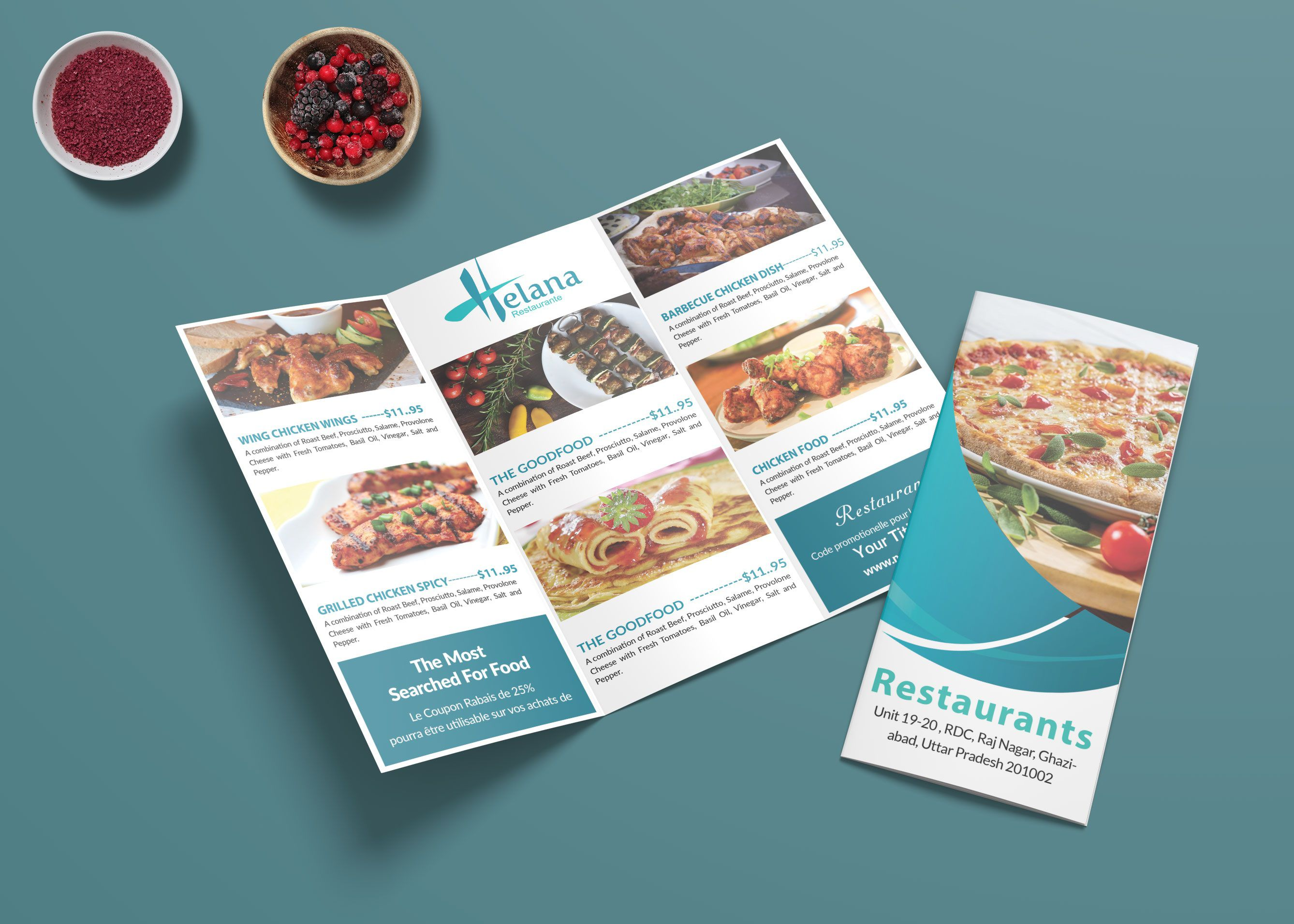 007 Fearsome Take Out Menu Template Image  Tri Fold Free Word Restaurant AwayFull