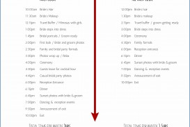007 Fearsome Wedding Day Itinerary Template Idea  Reception Dj Indian Timeline For Bridal Party