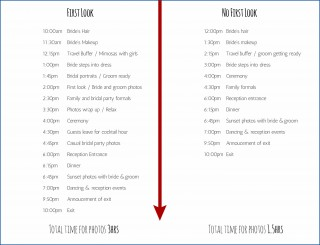 007 Fearsome Wedding Day Itinerary Template Idea  Sample Excel Word320