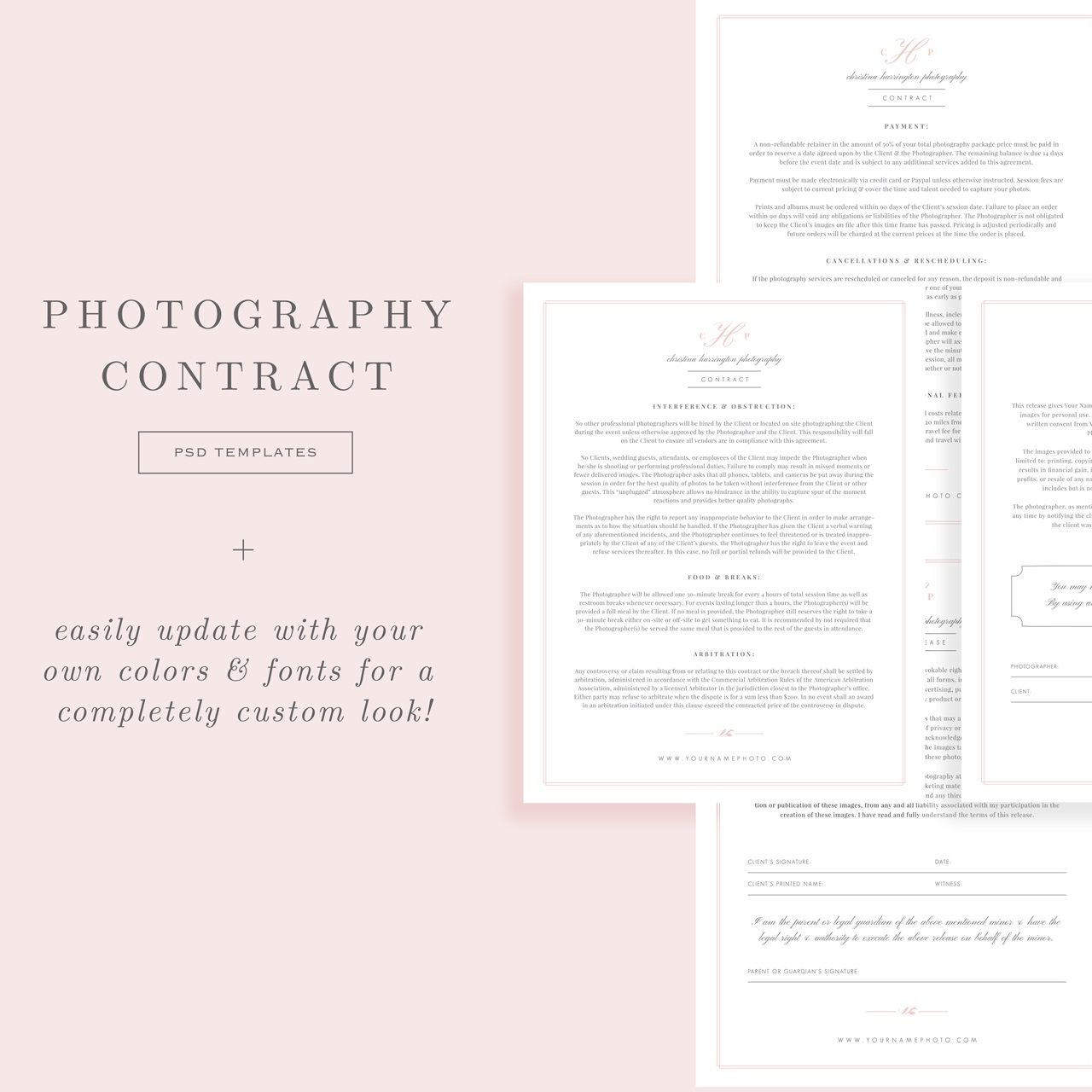 007 Fearsome Wedding Photographer Contract Template Photo  Free Photography UkFull